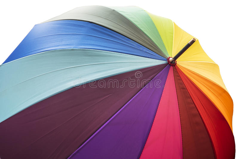 Save Download Preview Umbrella With Rainbow Colors royalty free stock image