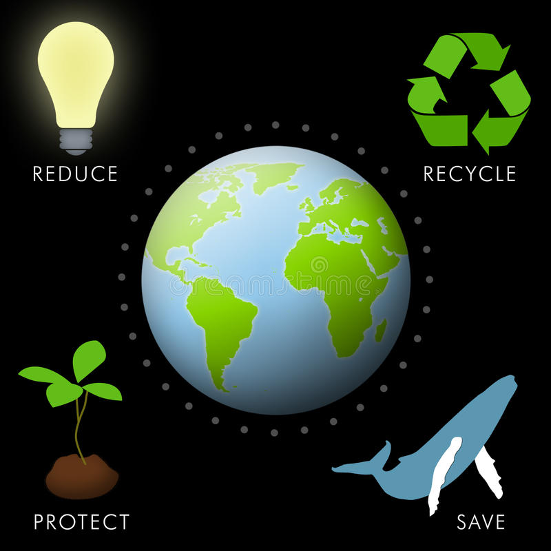 Save Earth vector illustration
