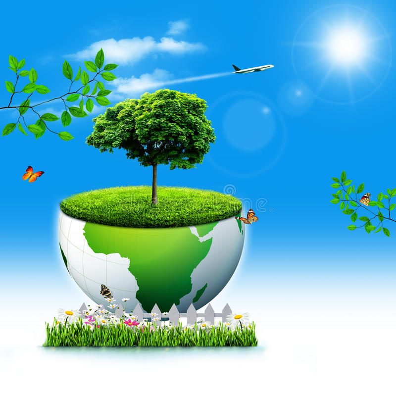Save the Earth. royalty free illustration