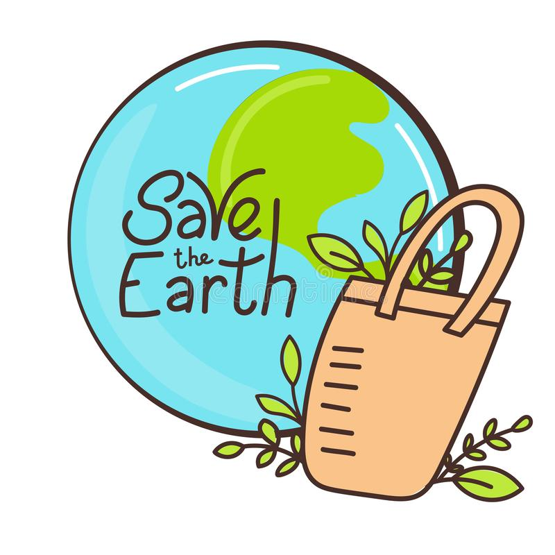 Save the Earth stock illustration