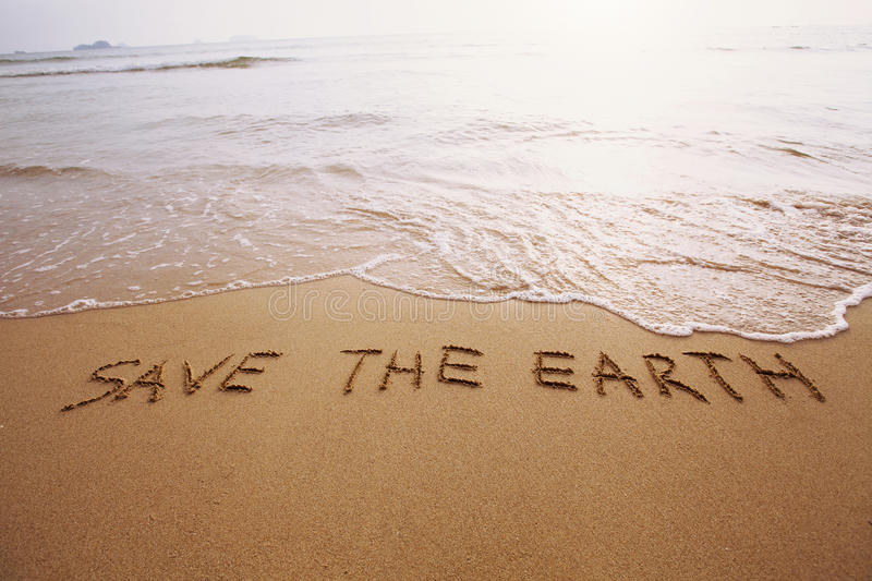 Save the earth. Ecology concept, environment, save the earth stock photography