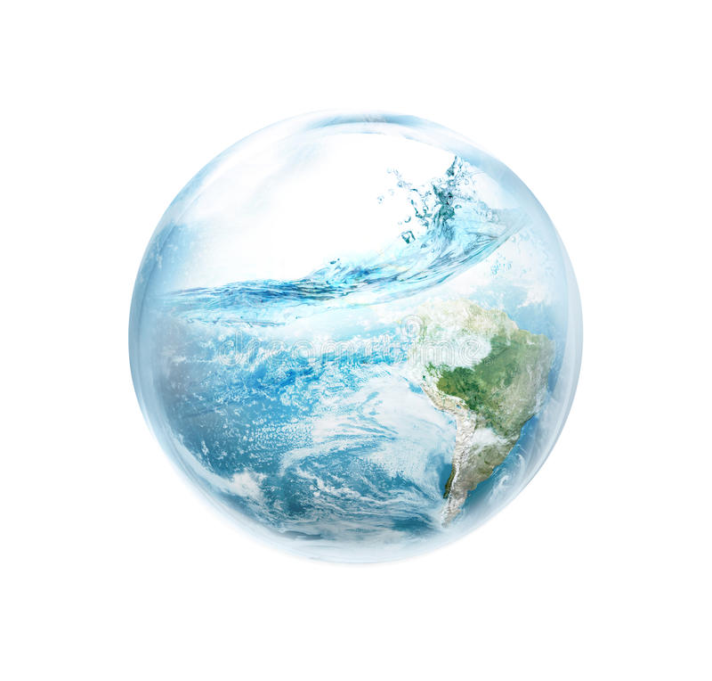 Save the earth from El Ni No. royalty free illustration