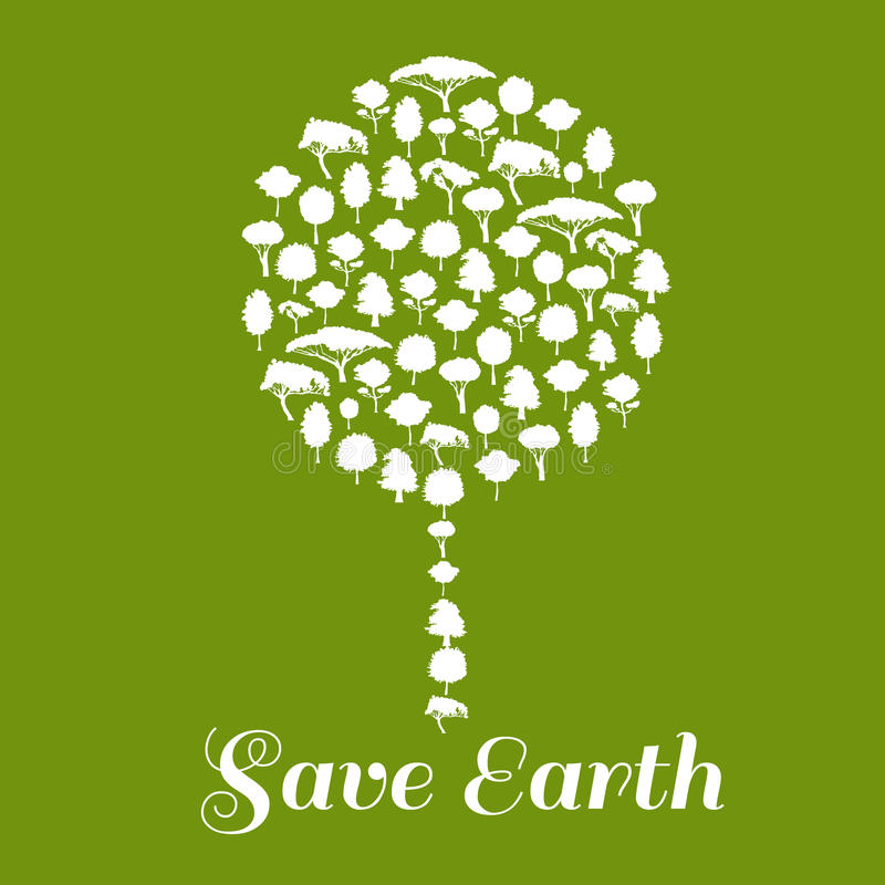 Save Earth. Environmental ecology icon stock illustration