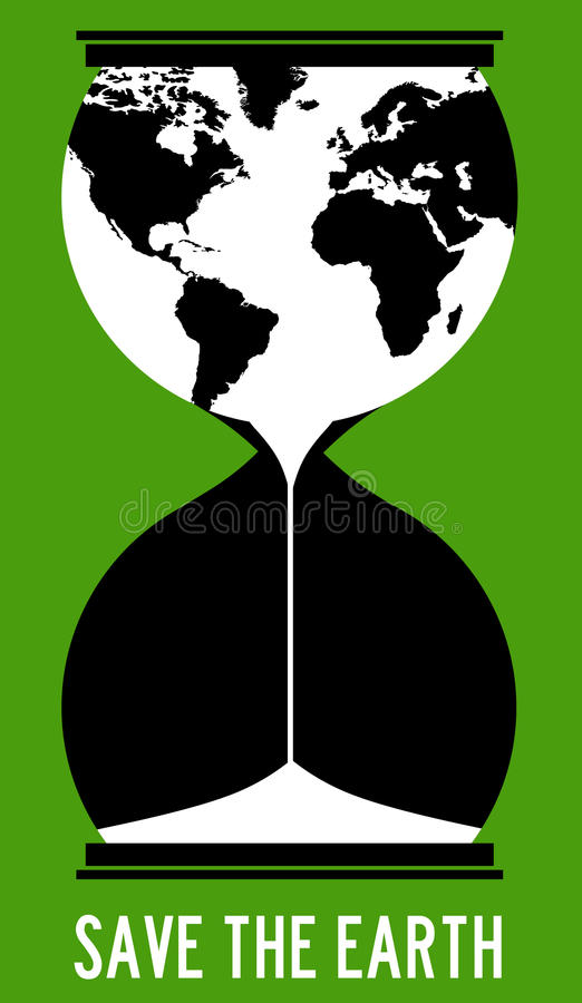 Save the earth vector illustration