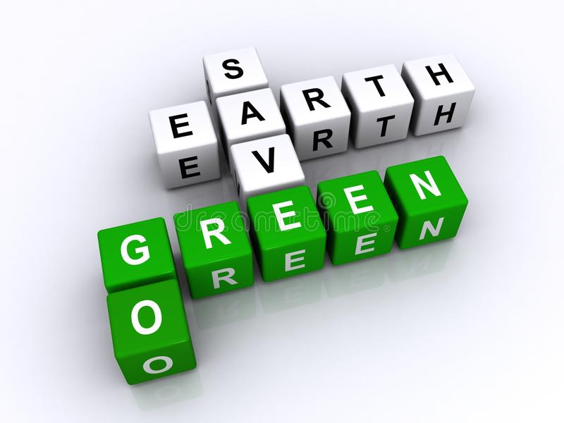 Save earth go green stock illustration