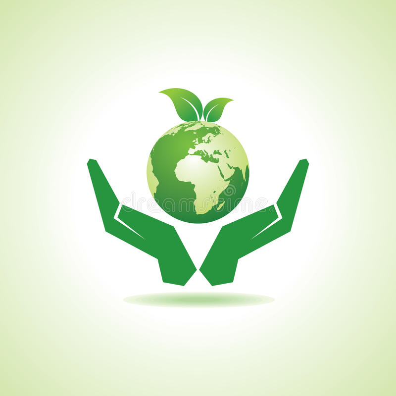 Save earth or go green concept vector illustration