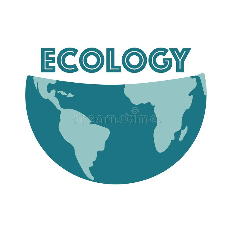 Save the earth, protect our planet, eco ecology, climate changes, Earth Day April 22, vector emblem or illustration stock illustration