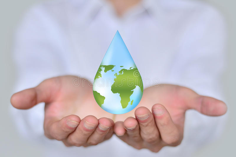 Save Earth/ Water Concept royalty free stock images