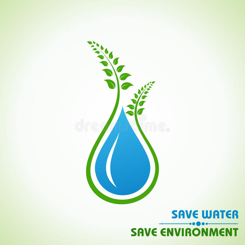 Save earth,water and environment concept royalty free illustration