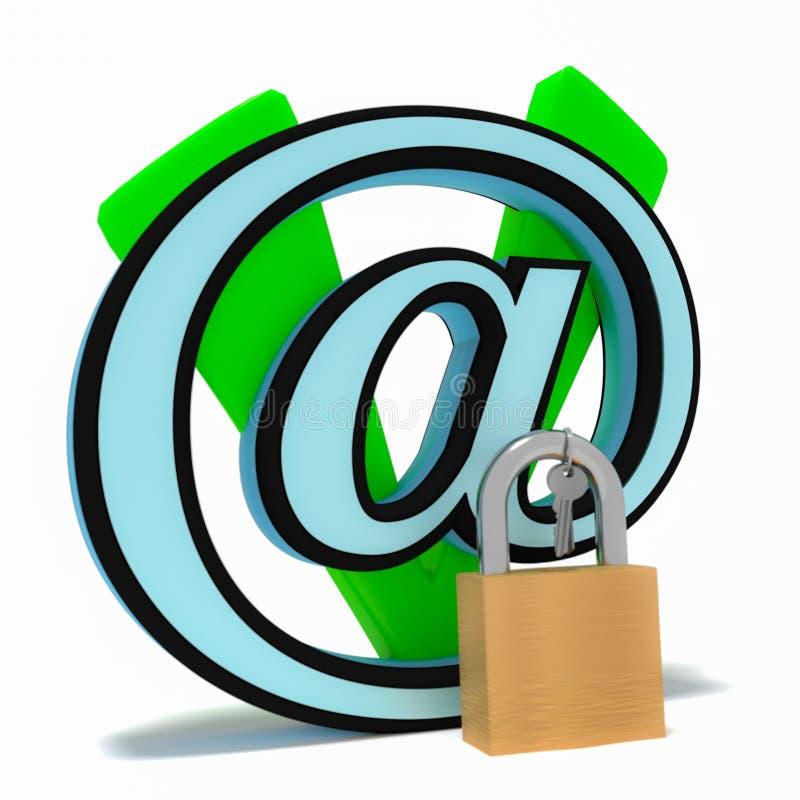 Save email locked. And keys stock illustration