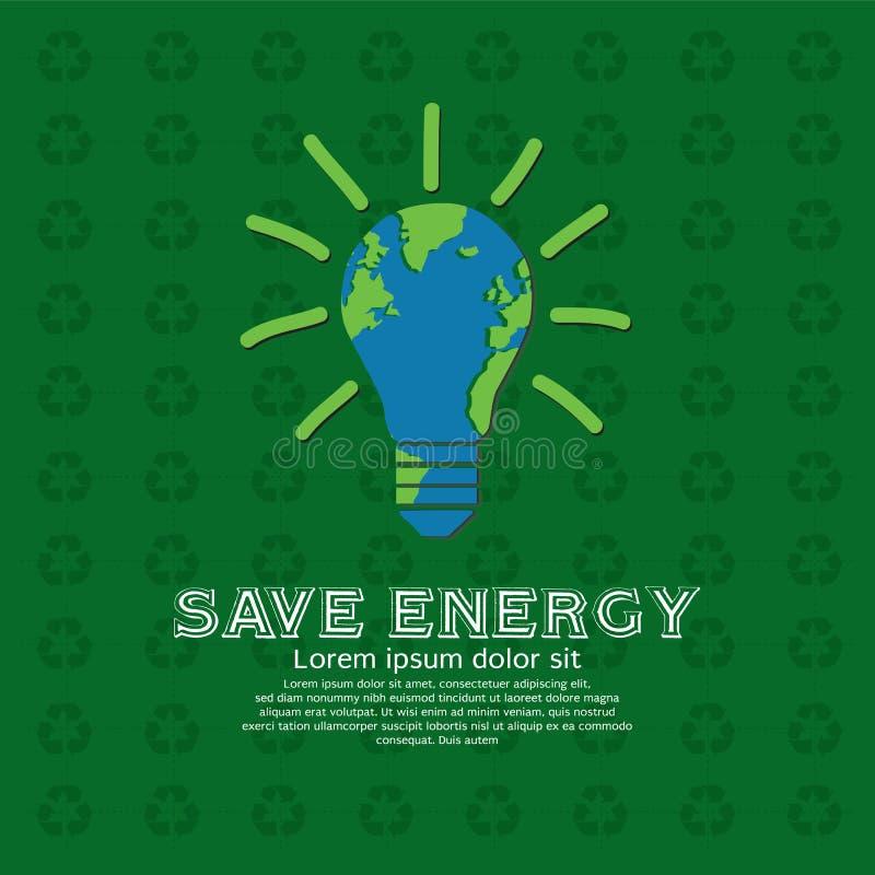 Save energię. royalty ilustracja