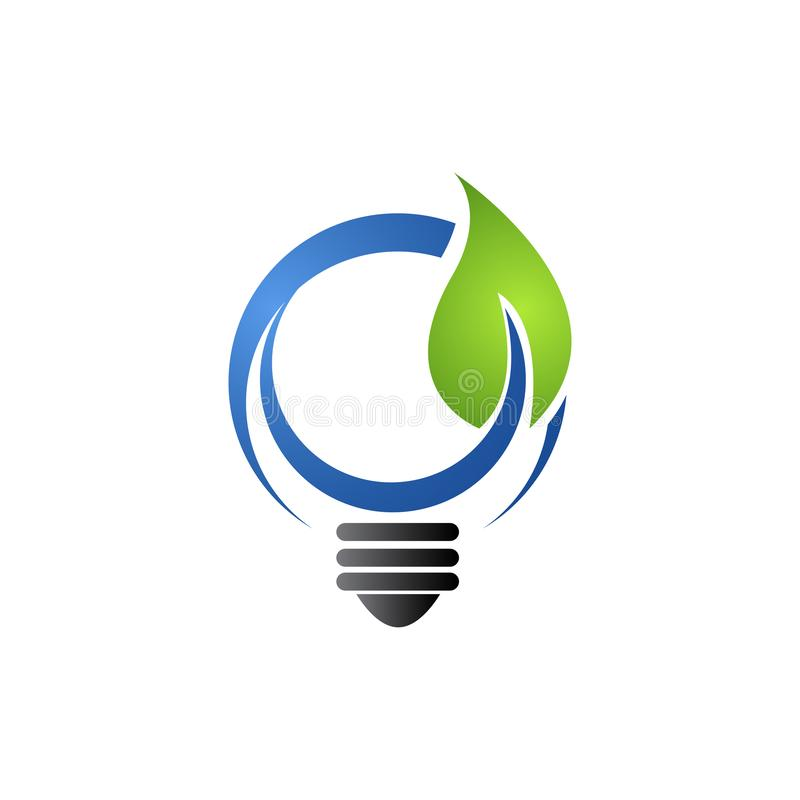Save Energy eco concept icon for green ecology environment protection and nature saving or conservation vector illustration