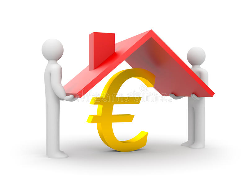 Download Save the Euro stock illustration. Image of isolated, home - 12563183