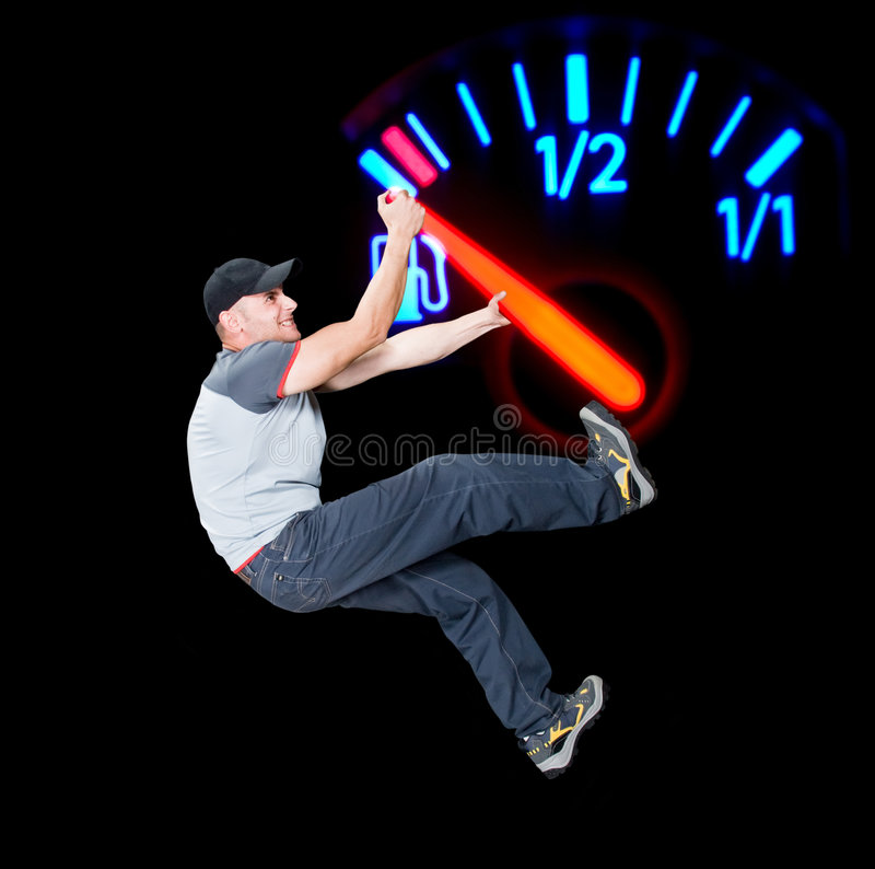 Save the fuel royalty free stock image