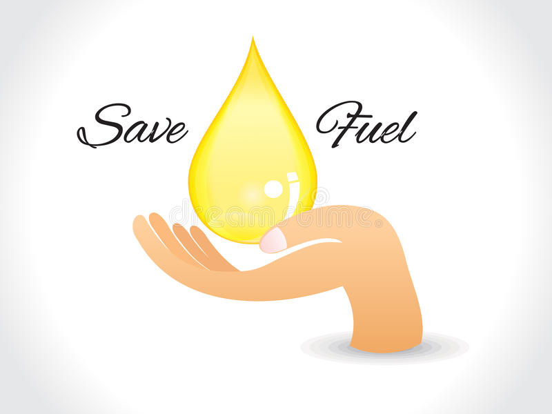Save fuel background with drop stock illustration