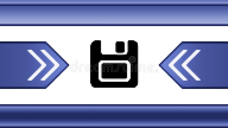 Save icon. On the screen stock illustration