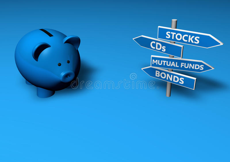 Save Or Invest Royalty Free Stock Photos
