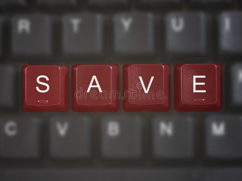 SAVE keys on computer keyboard