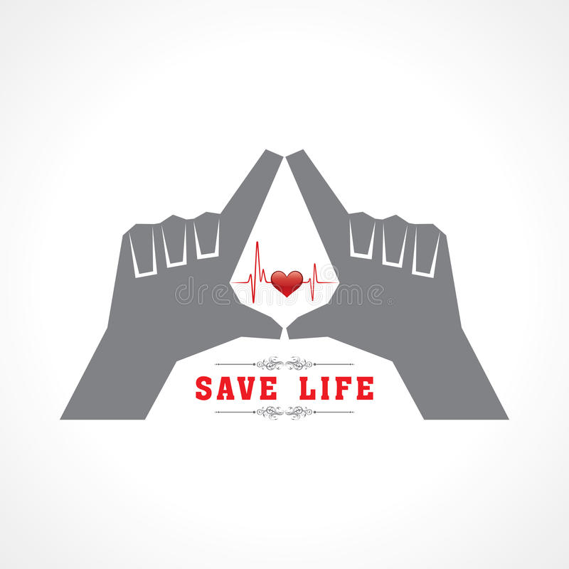 Save life concept. Stock vector stock illustration