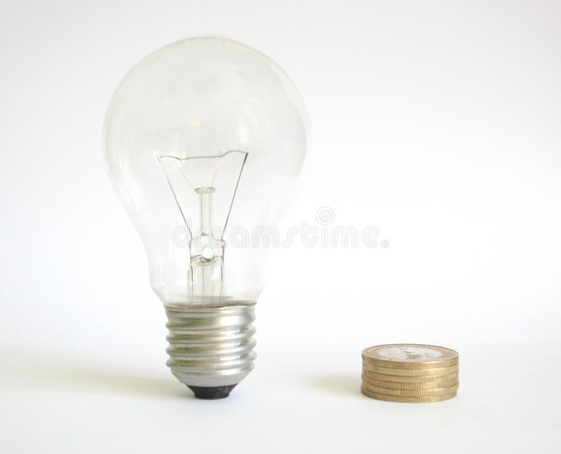 Save money. With economy lighting royalty free stock images
