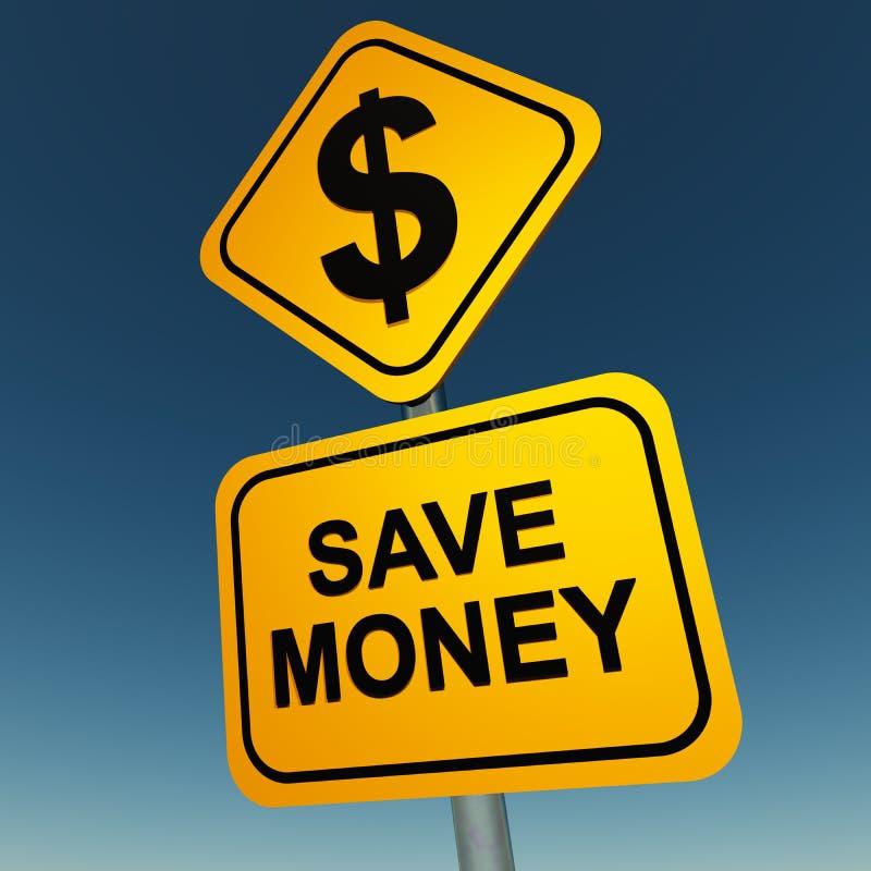 Save money royalty free illustration