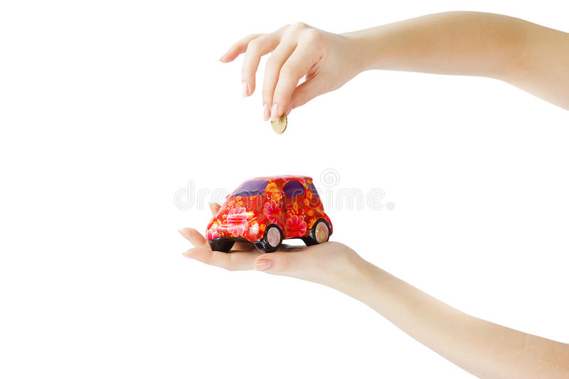 SAVE MONEY FOR A CAR royalty free stock photo