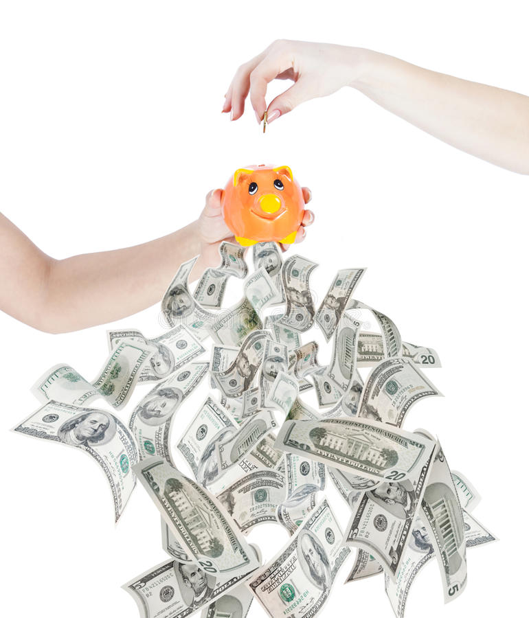 SAVE MONEY INVEST AND EARN royalty free stock image