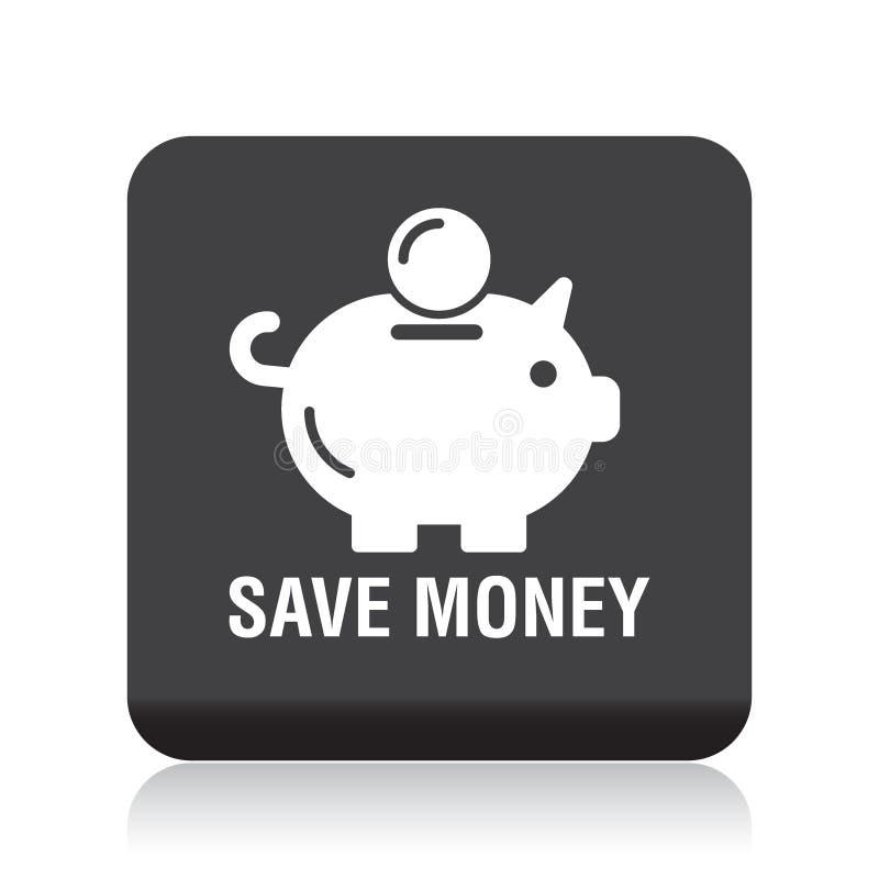 Save money piggy bank icon royalty free illustration