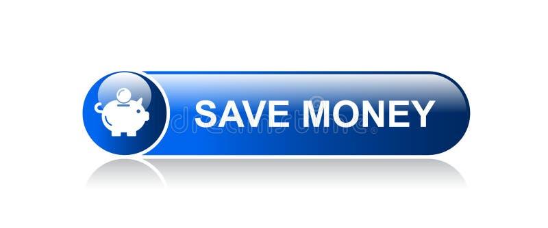 Save money piggy bank icon stock illustration