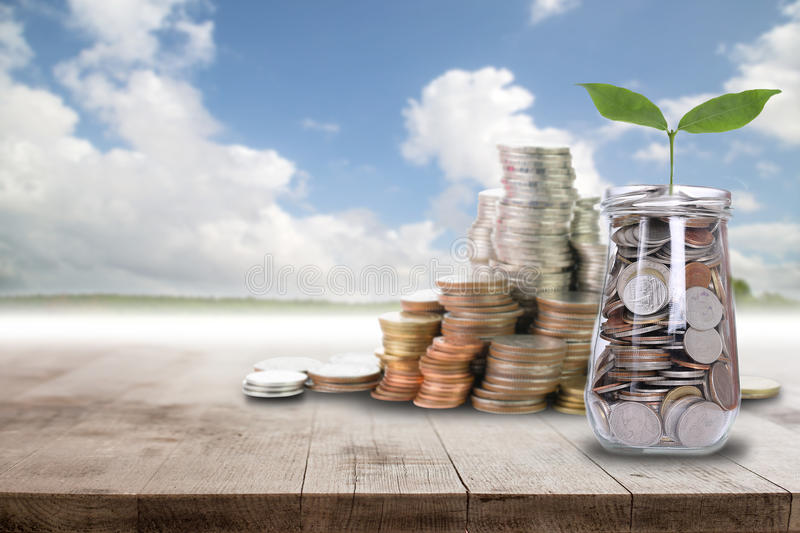 Save money for prepare. In the future royalty free stock photography