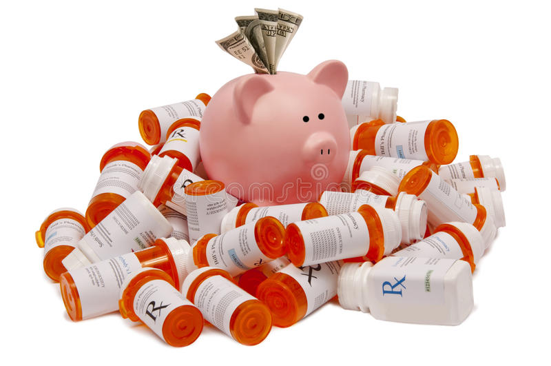 Save Money On Prescriptions Royalty Free Stock Image
