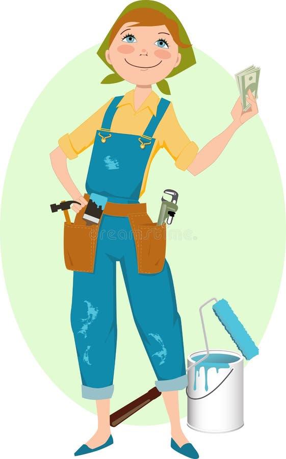 Save money on renovation stock illustration