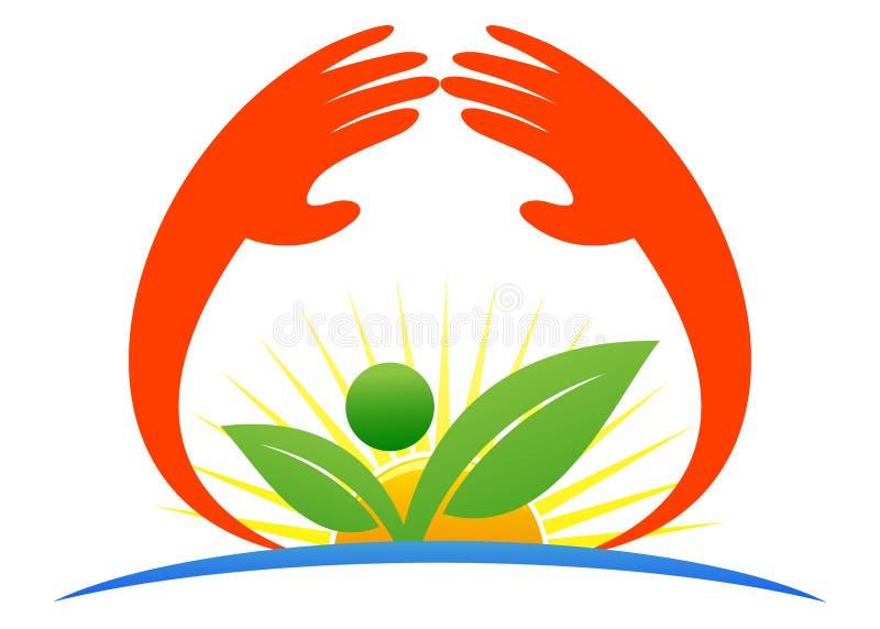 Save nature. Illustration of save nature design isolated on white background royalty free illustration
