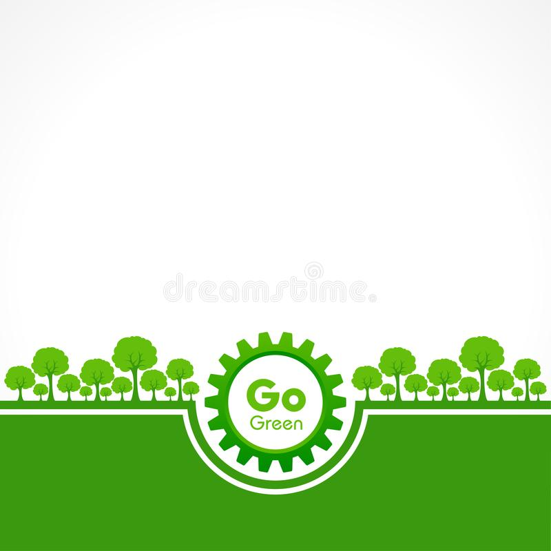 Save Nature Concept - World Environment Day. Stock vector vector illustration