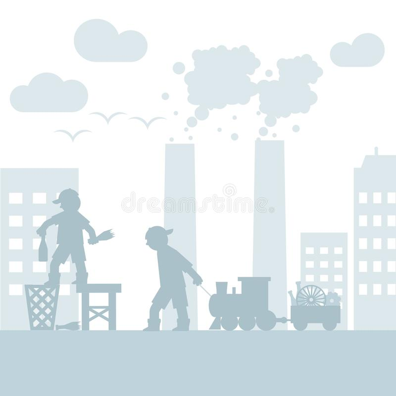 Save the nature from global pollution concept vector illustration