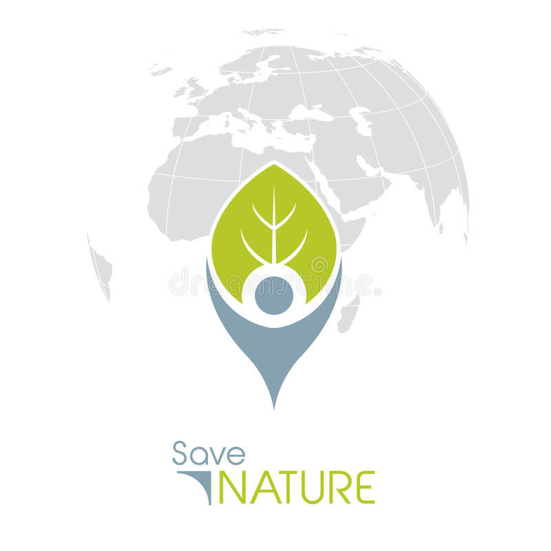 Save natury ikonę royalty ilustracja