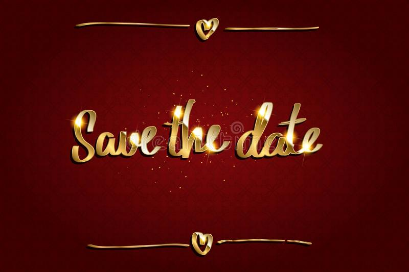 Save Our Date royalty free illustration