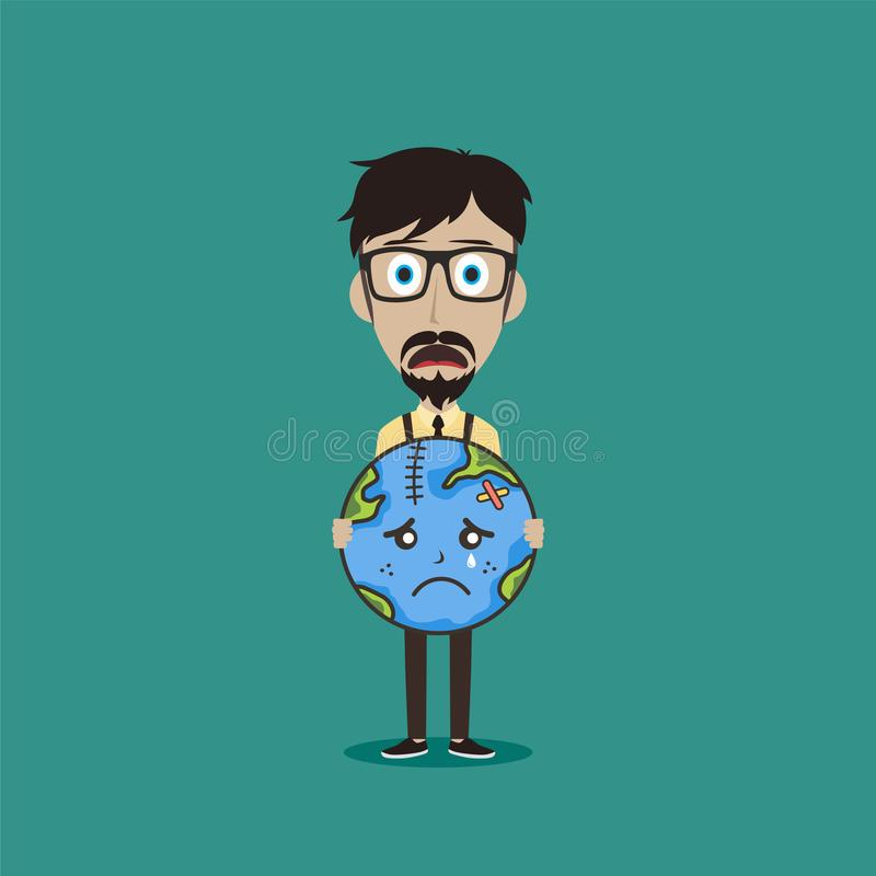 save our planet earth campaign male guy holding sign theme royalty free stock photos