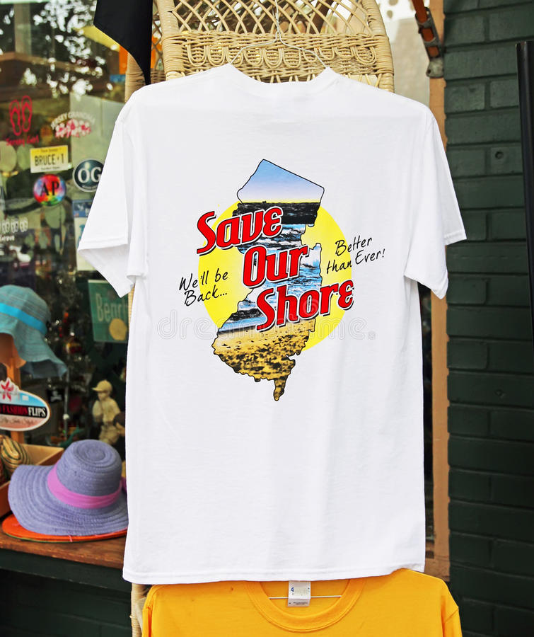 Download Save Our Shore Tee Shirt Editorial Image - Image: 33108365