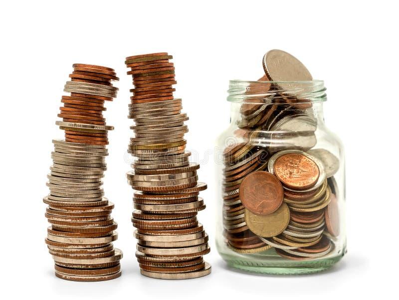 Save pieniądze i rozlicza bankowość dla finansowego biznesowego pojęcia zdjęcie stock