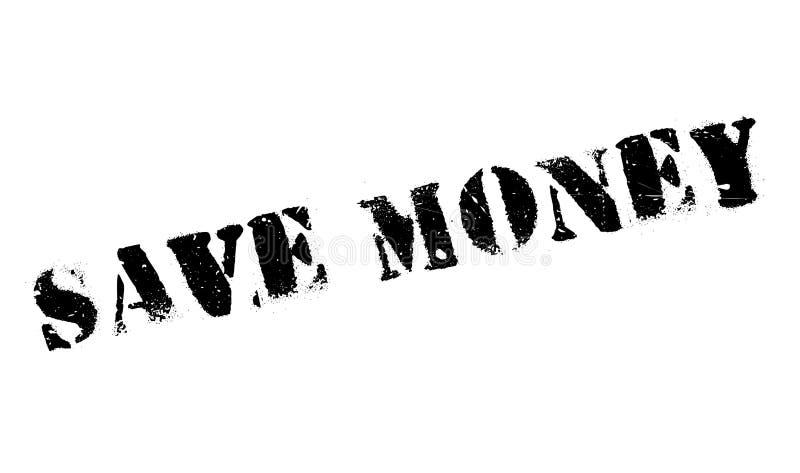 Save pieniądze pieczątkę ilustracji