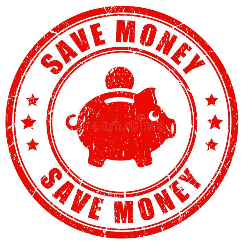 Save pieniądze wektoru znaczek ilustracji