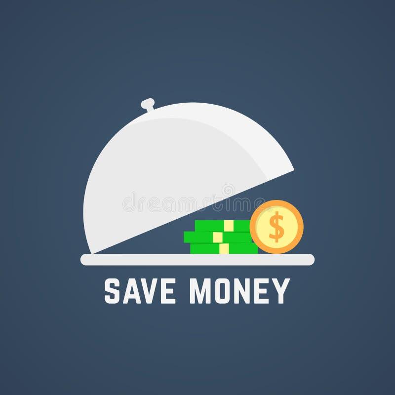 Save pieniądze z otwartym naczyniem ilustracji
