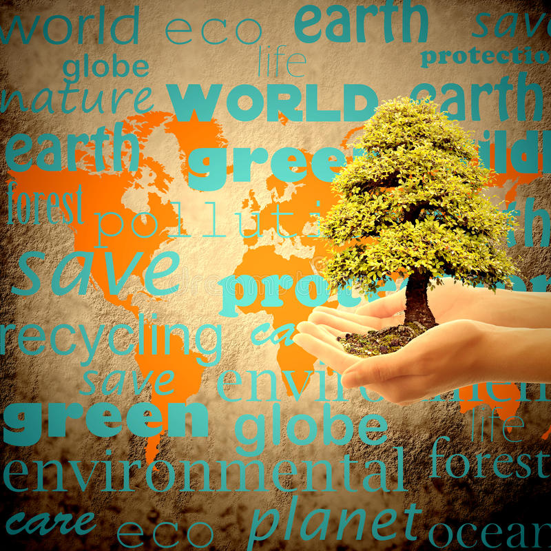 Save the planet earth stock photo