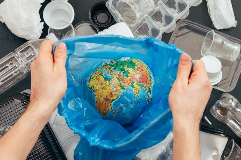 Save planet ecology plastic waste recycling royalty free stock images