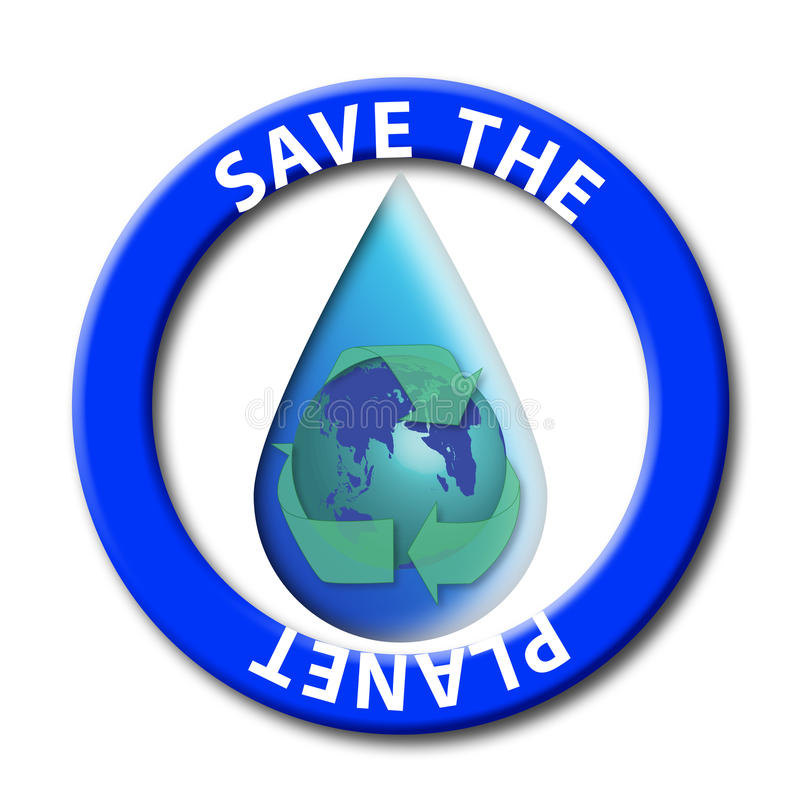 Save the planet seal vector illustration