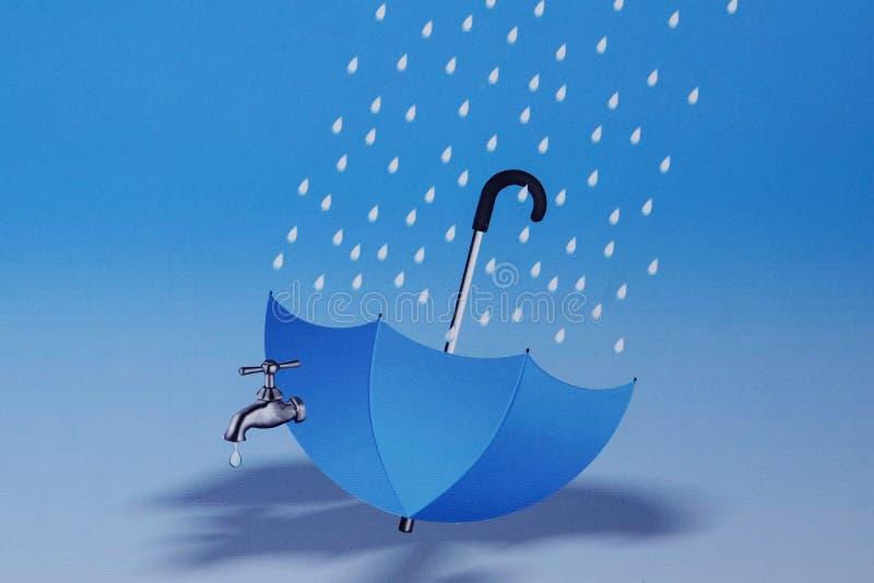 SAVE PODESZCZOWĄ wodę ilustracji