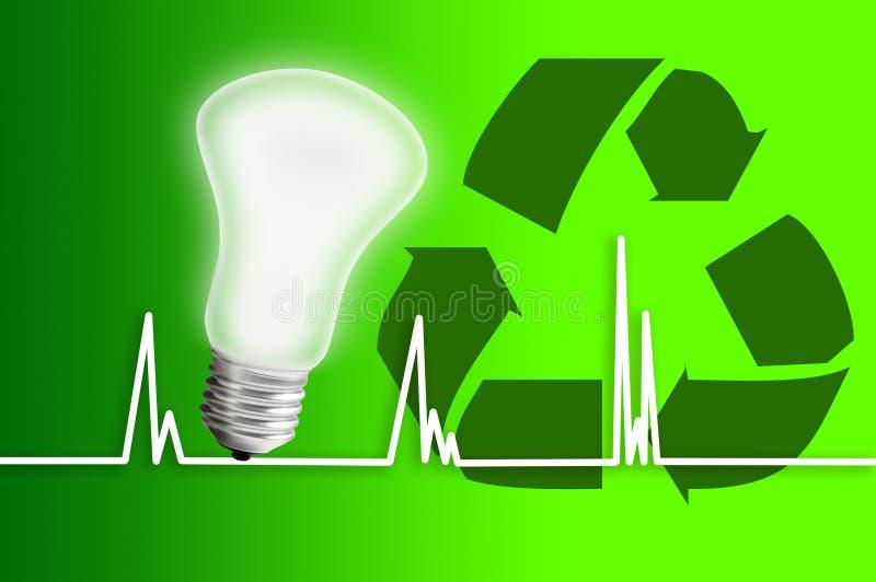 Save power environmental. Environmental protection and saving power stock photo
