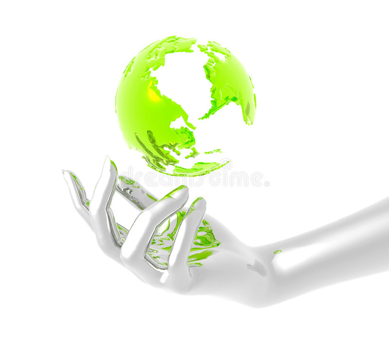 Save and protect the earth stock photography
