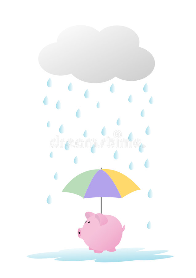 Save for a rainy day stock photography